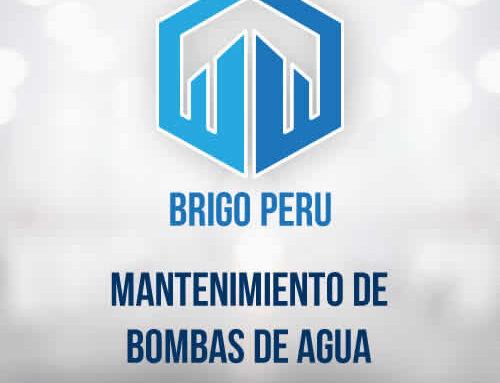 MANTENIMIENTO DE BOMBAS DE AGUA