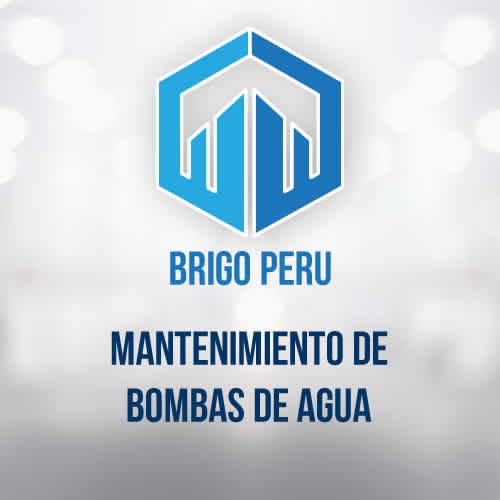 BRIGO PERU | MANTENIMIENTO DE BOMBAS DE AGUA